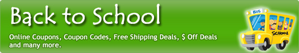 Back To School coupon code, Back To School coupons, Back To School promotions, Back To School promo code